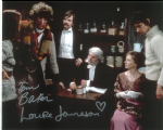 Tom Baker, Louise Jameson  -  Multi signed original autograph not a copy 10268